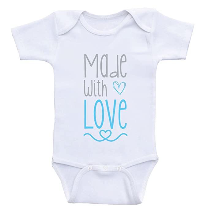302b125826c Cute Baby Clothes Made with Love Sweet Baby Onesie Bodysuits (3mo-Short  Sleeve