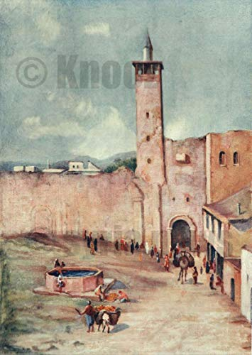 BAB Sherki (The Eastern Gate), Damascus, The end of The Nineteenth Century, by Margret Thomas,Painting on Canvas Without Frame (X-Large)