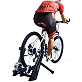 Fluid Bike Trainer Stand,Indoor Fluid Bicycle Exercise Trainer w Quiet Real Road Feel Flywheel, Supports 370lbs Portable Cycling Stand w Sweat Guard /Quick Release/ Front Wheel Riser For Sale