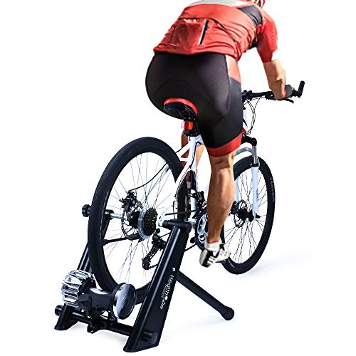 Fly Pads Replacement (Fluid Bike Trainer Stand,Indoor Fluid Bicycle Exercise Trainer w Quiet Real Road Feel Flywheel, Supports 370lbs Portable Cycling Stand w Sweat Guard /Quick Release/ Front Wheel Riser)