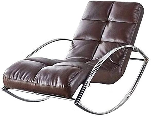ZHOUYANG Comfortable Relax Rocking Chair, Lounge Chair Relax Chair Leather  (Color : Brown): Amazon.co.uk: Kitchen & Home