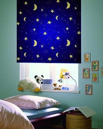 Verdunkelungsrollo Kinderzimmer verdunklungsrollo rollo kinderzimmer sterne sternenhimmel 142 x