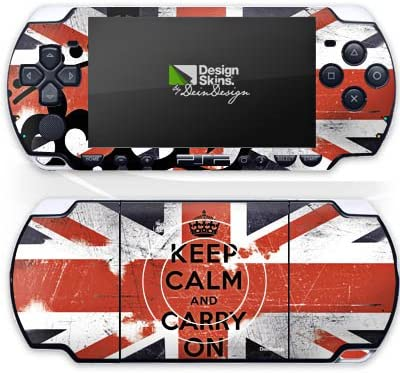 Design folie compatibel met Sony PSP Slim Lite 2004 Designskin Vinyl Stickers Keep Calm Union Jack England