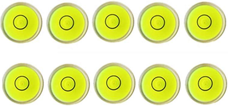 5pcs 15mm Mini Niveau Circulaire Niveau /à Bulle Bubble Spirit Level Niveau de Poche ABS Plastique Diam/ètre Circulaire Outil de Mesure Ronde Bulle Niveau dSpirit pour /Échelle de L/équilibre