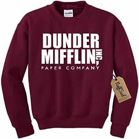 a703bad2876ebe NuffSaid Dunder Mifflin Crewneck Sweatshirt - Sweater - Premium Quality TV Shirt  Sweatshirt