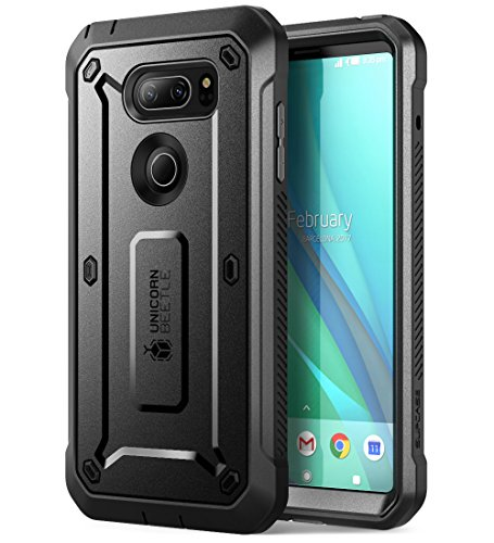 SUPCASE LG V30 Case, Full-Body Rugged Holster Case with Built-in Screen Protector for LG V30, LG V30s,LG V30 Plus,LG V35,LG V35 ThinQ 2017 Release, Unicorn Beetle PRO Series (Black/Black)