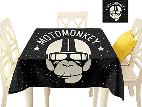 familytaste Wholesale tablecloths Outer Space,Sign Alien Monkey with