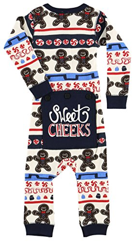 Price comparison product image Sweet Cheeks Gingerbread Baby Flapjack Onsie Pajamas by LazyOne | Adult Kid Infant Dog Family Matching Pajamas (12 MO)