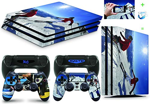 Gizmoz n Gadgetz PS4 PRO Console Personalised Custom Skin Decal Vinal Sticker + 2 Controller Skins Set