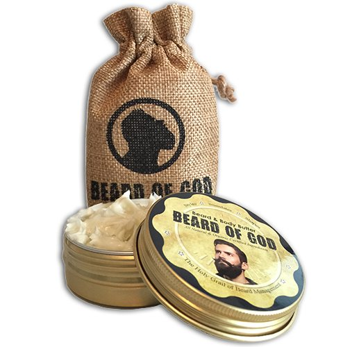 WARM TOBACCO PIPE - 2.5oz BEARD BUTTER Conditioner & Sack - Natural, Organic, Vegan, Hand-Crafted
