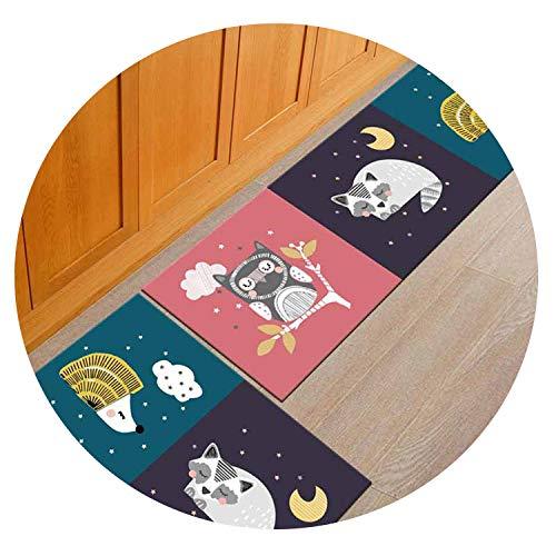 Polyester+Rubber Slip-Resistant Washable Entrance Doormat Floor Mat Kitchen Long Carpet Corridor Rug Front Door Entry Funny Mats,5,50x160cm
