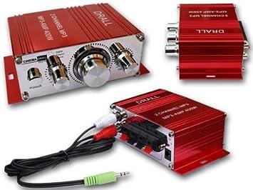 DRALL INSTRUMENTS Mini amplificador de potencia Flats, scooter, motocicleta, coche, reproductor de
