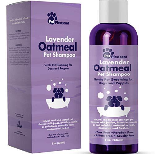 Colloidal Oatmeal Dog Shampoo with Pure Lavender Essential Oils -...