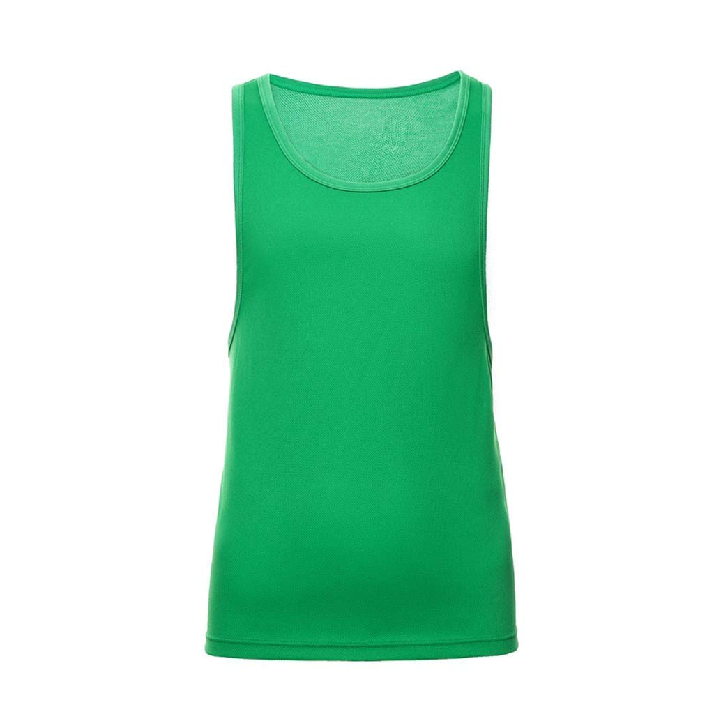 Giulot Men's Classic Basic Outdoor Quick-Drying Sports Tank Tops Ultra Soft Stretching Fitness Vest Basic Training Shirt Green
