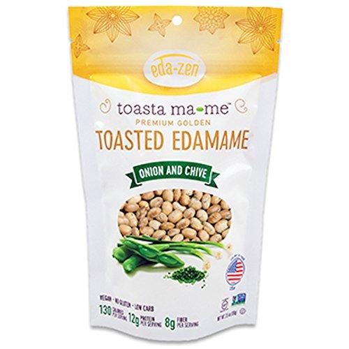 Eda-Zen Toasted Edamame Snacks, Onion & Chive, 3.5 Ounce ...
