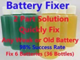 Liquid Solution Refurbish Fix Repair Renew Golf Cart Batteries Battery Kit 2 Part Liquid