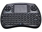 LotFancy 2.4G Wireless Mini Backlit Keyboard Mouse Touchpad Combo for PC, Tablet, Laptop, Android TV Box, Smart TV, Google TV Box, Xbox 360, PS3 & HTPC IPTV – Portable Gaming Qwerty Keyboard