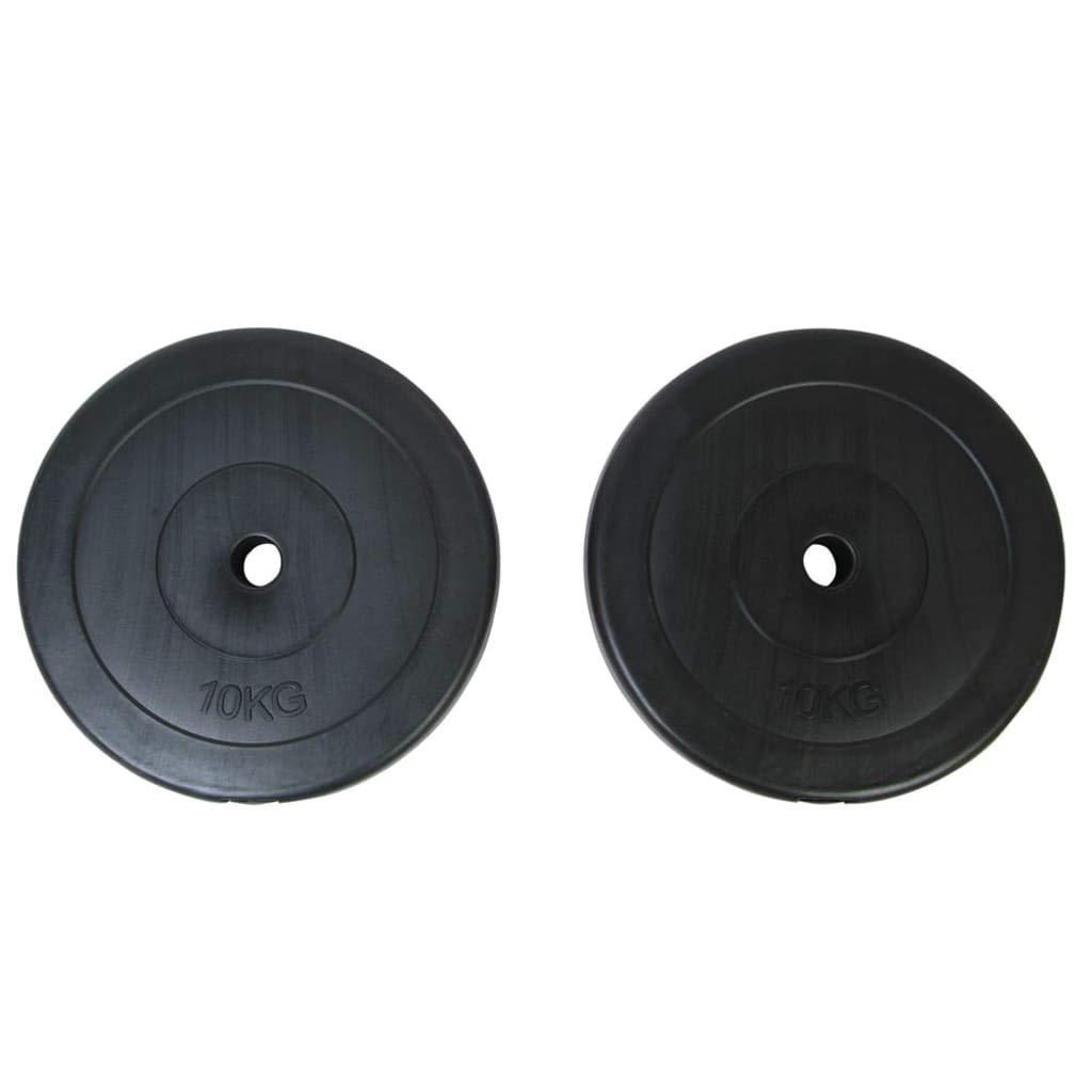 vidaXL 2x Discos de Pesas 10 kg Entrenamiento Profesional en Casa ...
