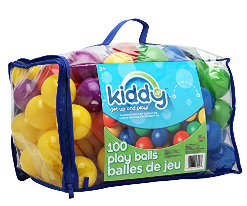Kiddy Up Crush Resistant Pit Balls Playset (100Count) Phthalate & Bpa - Soft Fun 100 Balls