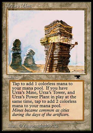 Played //// Antiquities //// MTG Magic the Gathering Urza/'s Mine Sphere Art