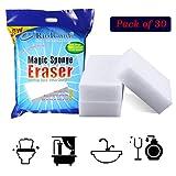 RioRand Generic Jumbo Magic Cleaning Eraser Sponge Melamine Foam High Quality 100 X 70 X 30mm (Pack Of 30)