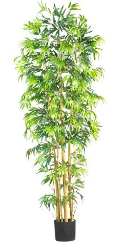 Nearly Natural 5215 Bambusa Bamboo Silk Tree, 7-Feet, Green (Nearly Natural Silk Artichoke)