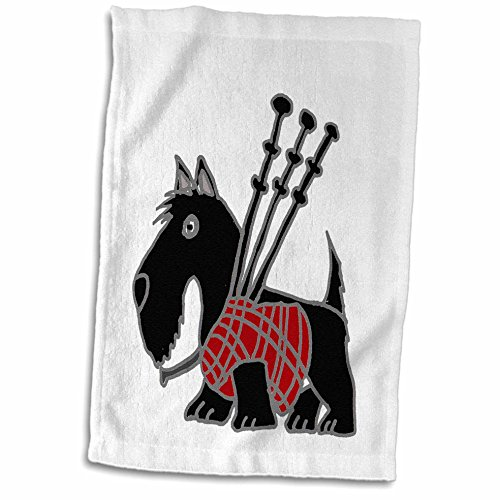sh Terrier Playing The Bagpipes Hand Towel, 15