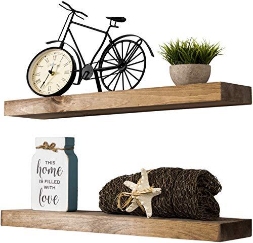Buy wall shelf wooden rustic