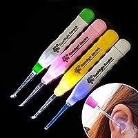 4 Pcs Kids Baby Safe Flash Lighting Ear pick Spoon Earwax Curette Remover Tool from FlasLEDeARP