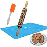 Pastry Mat - Silicone Baking Mat with Measurements - Design for Cookie,Pastry Dough,Fondant,Pie Crust