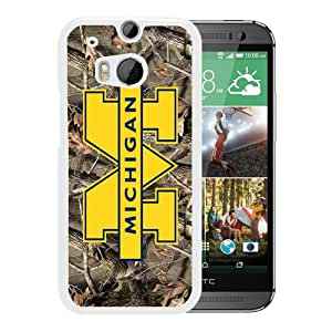 Popular Custom Designed Cover Case With Ncaa Big Ten Conference Football Michigan Wolverines 11 White For HTC ONE M8 Phone Case