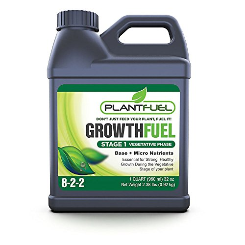 Hydroponic Soil - Plant Fuel Nutrients | GROWTH FUEL | Ultra-Premium Liquid Fertilizer for Soil, Hydroponic, and Other Grow Mediums. Formulated specifically for the Vegetative Growth Stage of your Plant. (Quart Size)
