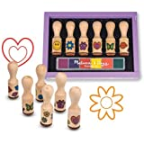 Wooden Happy Handle: Wooden Stamp Set + FREE Melissa & Doug Scratch Art Mini-Pad Bundle [24075]
