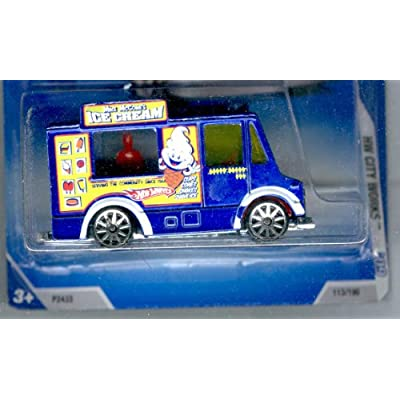Hot Wheels 2009 HW City Works Blue Ice Cream Truck w/ 10 SPS (7 of 10) #113/190 1:64 Scale: Toys & Games