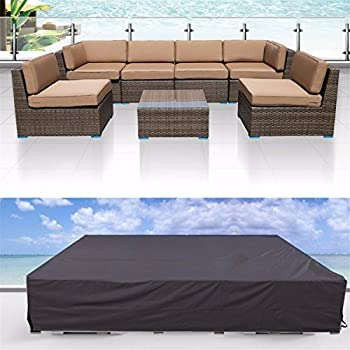 Patio Cover Tezoo Outdoor Furniture Lounge Porch Sofa Waterproof Dust Proof Protective Loveseat Covers 315 : patio sectional cover - Sectionals, Sofas & Couches