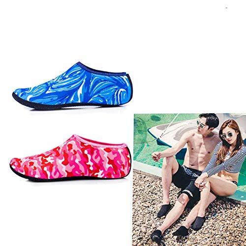 37.5 CUSHY Summer Men Women Couple Summer Beach Camouflage Non-Slip Swimming Socks Scuba Diving Surfing Yoga Beach Shoes Socks:
