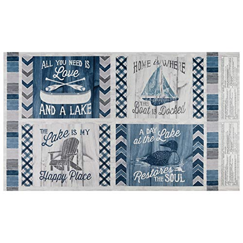 Wilmington Prints A Day At The Lake Pillow 24'' Panel Fabric, ()