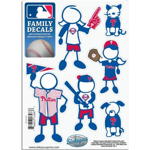 (MLB Philadelphia Phillies Small Family Decal Set)