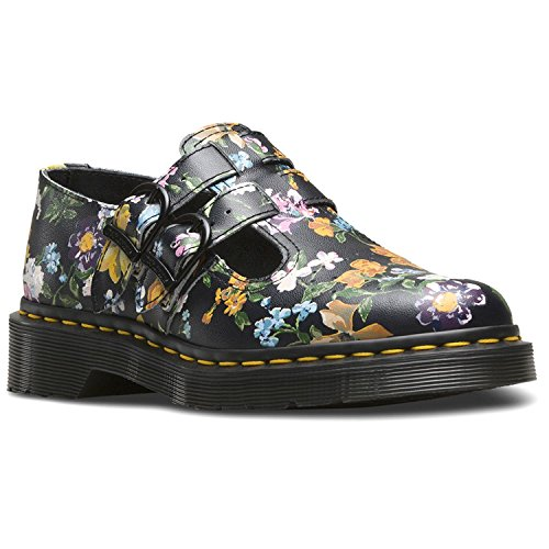 8065 Mujer Darcy Black Floral Backhand Zapatos Negro Dr Martens xqYCwxR