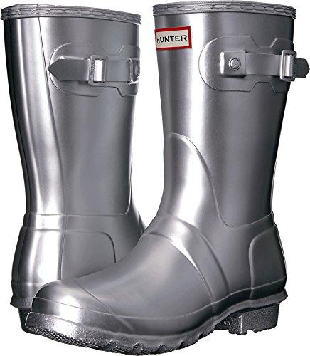 Hunter Women's Original Short Rain Boots Silver 7 M ()