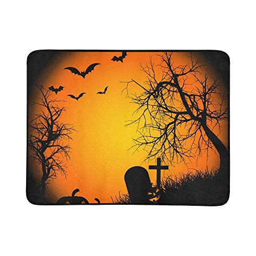 WHIOFE Halloween Ipad Wallpaper for Ipad Ipad Air R Pattern Portable and Foldable Blanket Mat 60x78 Inch Handy Mat for Camping Picnic Beach Indoor Outdoor -