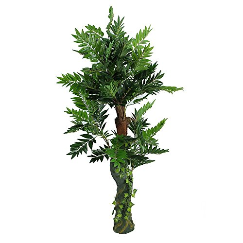 Artificial Plants Palm Tree, Large Silk Green Leaves Palm Tree, 170cm Tall, With No Pot(Y891#) by Youz