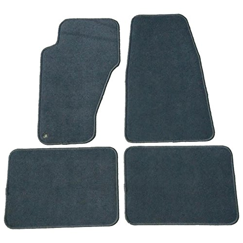 Floor Mat Fits 1999-2004 Jeep Grand Cherokee | Front & Rear Gray 4PC Nylon Car Floor Carpets Carpet liner by IKON MOTORSPORTS |  2000 2001 2002 2003