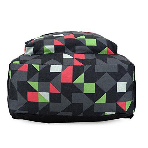 Koreanische Version Schultertasche Jungen und Mädchen Student Bag Travel Rucksack (Blau) Grün cPtzoCZQq
