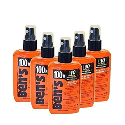 - Bens 100 Bug Spray, 1.25 oz Pump - 5 Pack Bundle