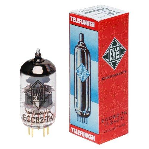 (TELEFUNKEN Elektroakustik ECC82-TK | Black Diamond Series 9Pin Triode Amplifier Vacuum Tube 12AU7)