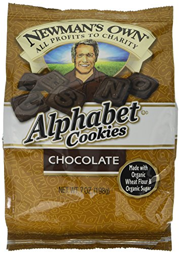 Newman's Own Alphabet Cookies, Chocolate, 7-Ounce Bags (Pack of 6) (Alphabet Egg)