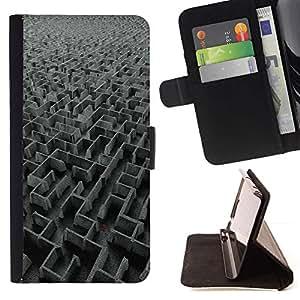Momo Phone Case / Flip Funda de Cuero Case Cover - Laberinto Laberinto Arte Ver Art Gris Dise?o - Sony Xperia Z3 D6603