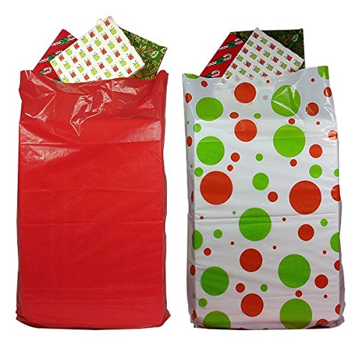 2-Pack Giant Christmas Gift Bags for easy wrapping large gif