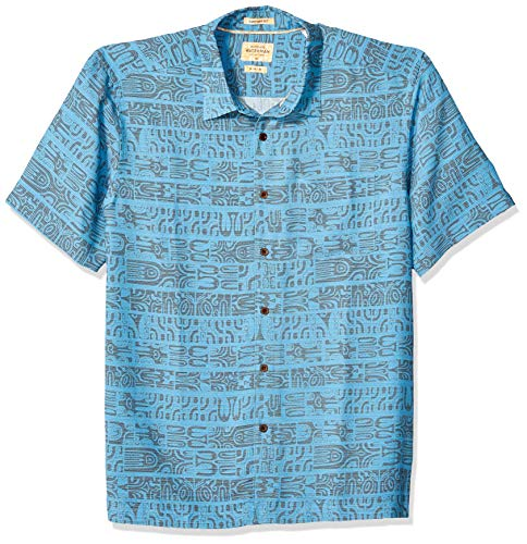 Quiksilver Waterman Men's Morea Myth Button Down Shirt, Parisian Blue, M ()